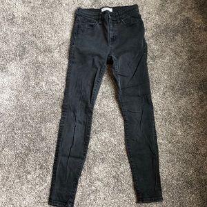 "Madewell 9"" high riser skinny jeans!"
